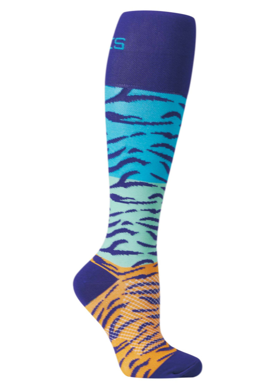 About The Nurse Tiger Print Medical Compression Socks - Jungle