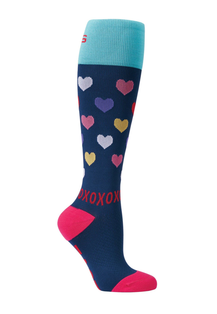 About The Nurse Hearts Print Medical Compression Socks - Hearts