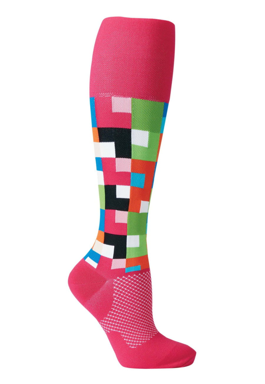 Image of About The Nurse Geo Compression Socks - Crazy Delights - 2X