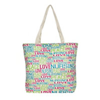 McCoy Medical Peace Love Nursing Canvas Tote