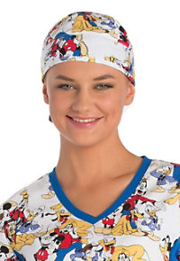 Cherokee Tooniforms Mickey Mouse Club Print Scrub Hats