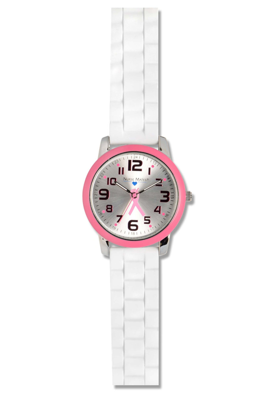 Nurse Mates Favorite Top Ring Watches - Pink/Pink Ribbons - OS
