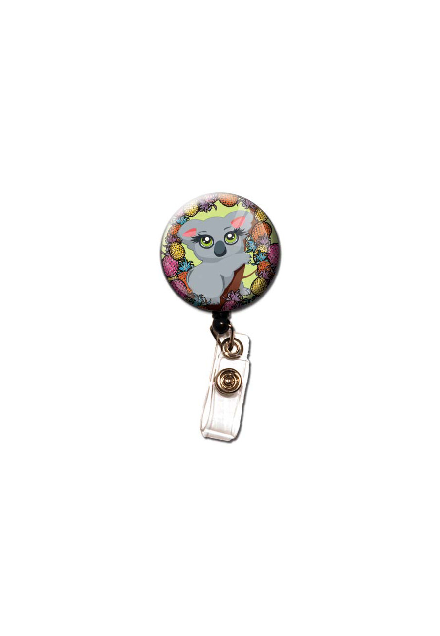 Initial This Exotic Animal Retractable Badge Holders - Koala
