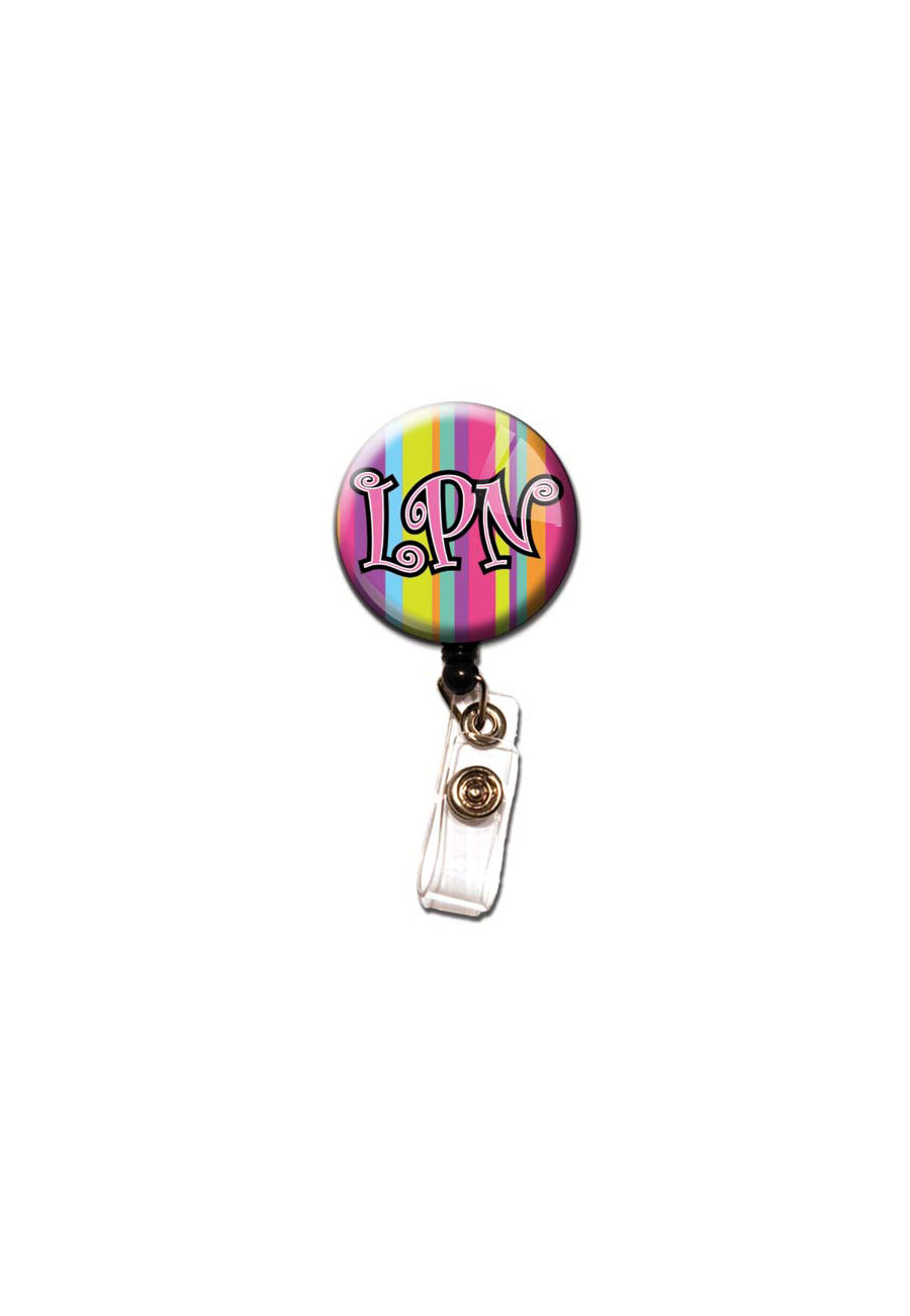 Initial This LPN Retractable Badge Holders - LPN print