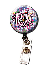 Initial This RN Retractable Badge Holders