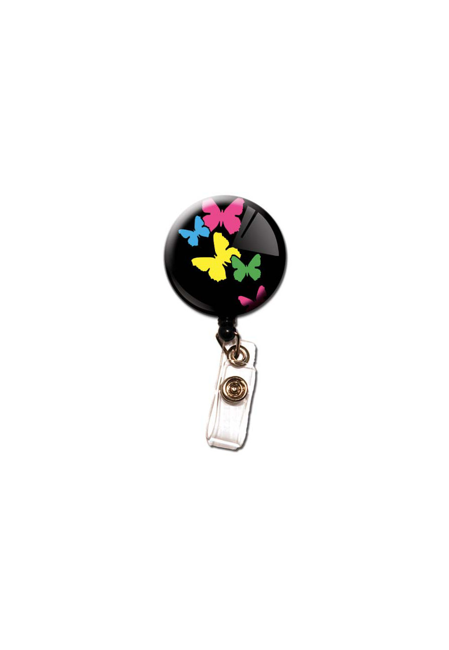 Initial This Butterfly Retractable Badge Holders - Butterfly