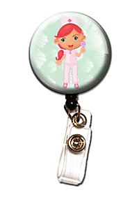 Initial This Nurse Retractable Badge Holders