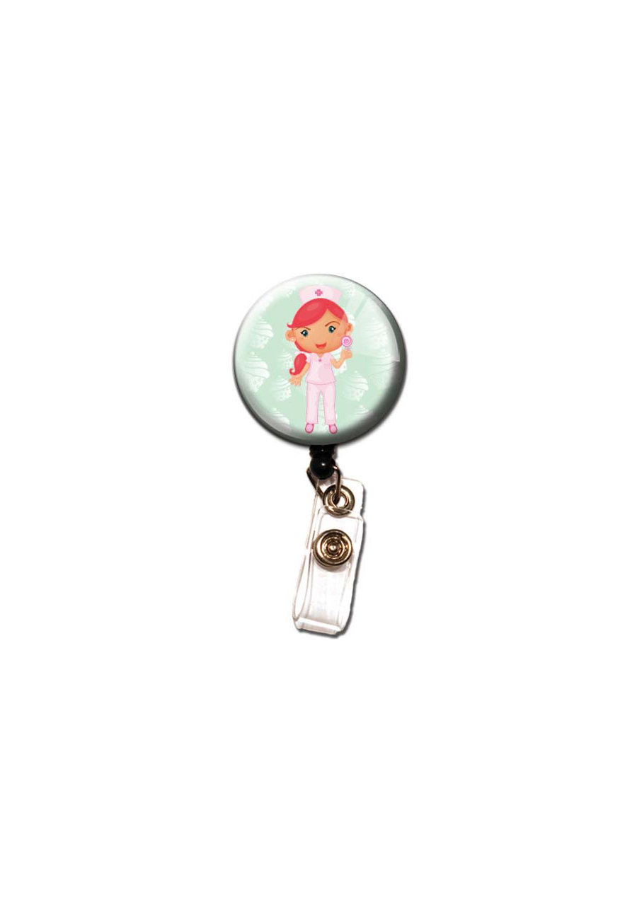 Initial This Nurse Retractable Badge Holders - Mint