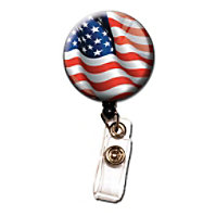 Initial This Patriotic Badge Holders