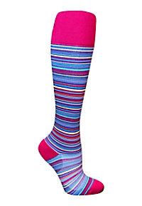 Total Compression Multi Stripes Medical Compression Socks
