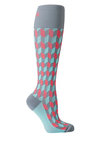 Total Compression Coral Chevron Medical Compression Socks