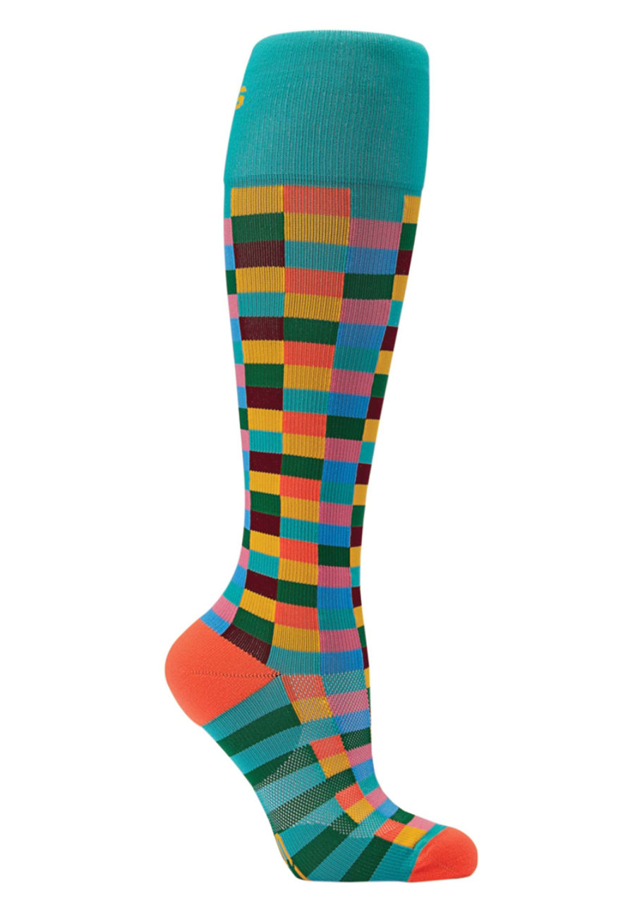 About The Nurse Hopscotch Medical Compression Socks - Hopscotch print