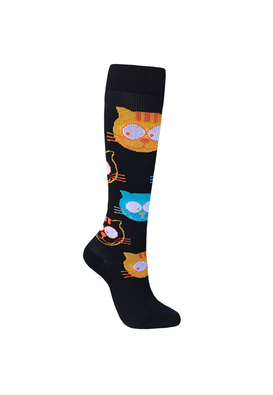 Image of About The Nurse Cats Medical Compression Socks - Cats - 2X