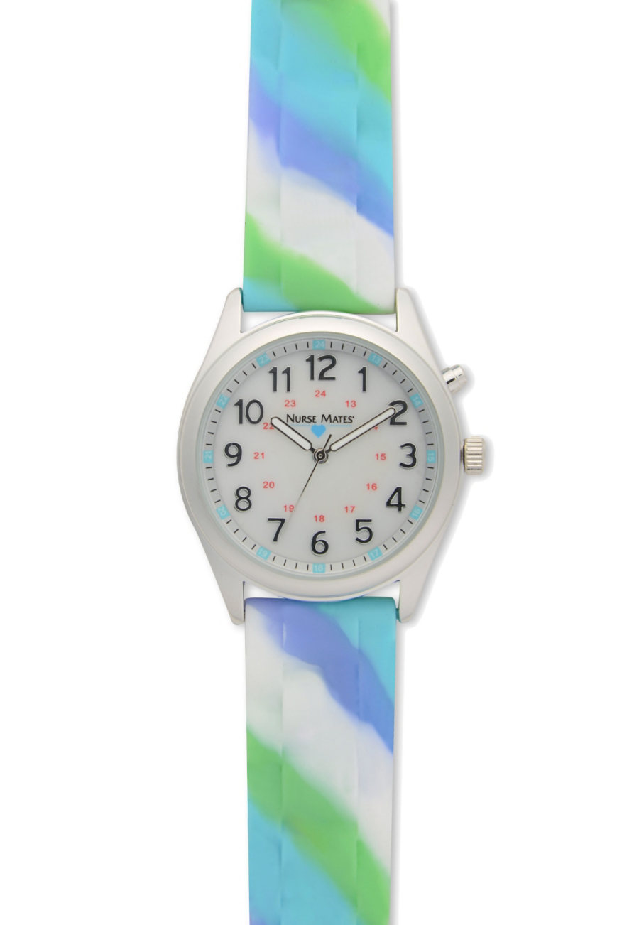 Nurse Mates Abstract Bumpy Strap Watch