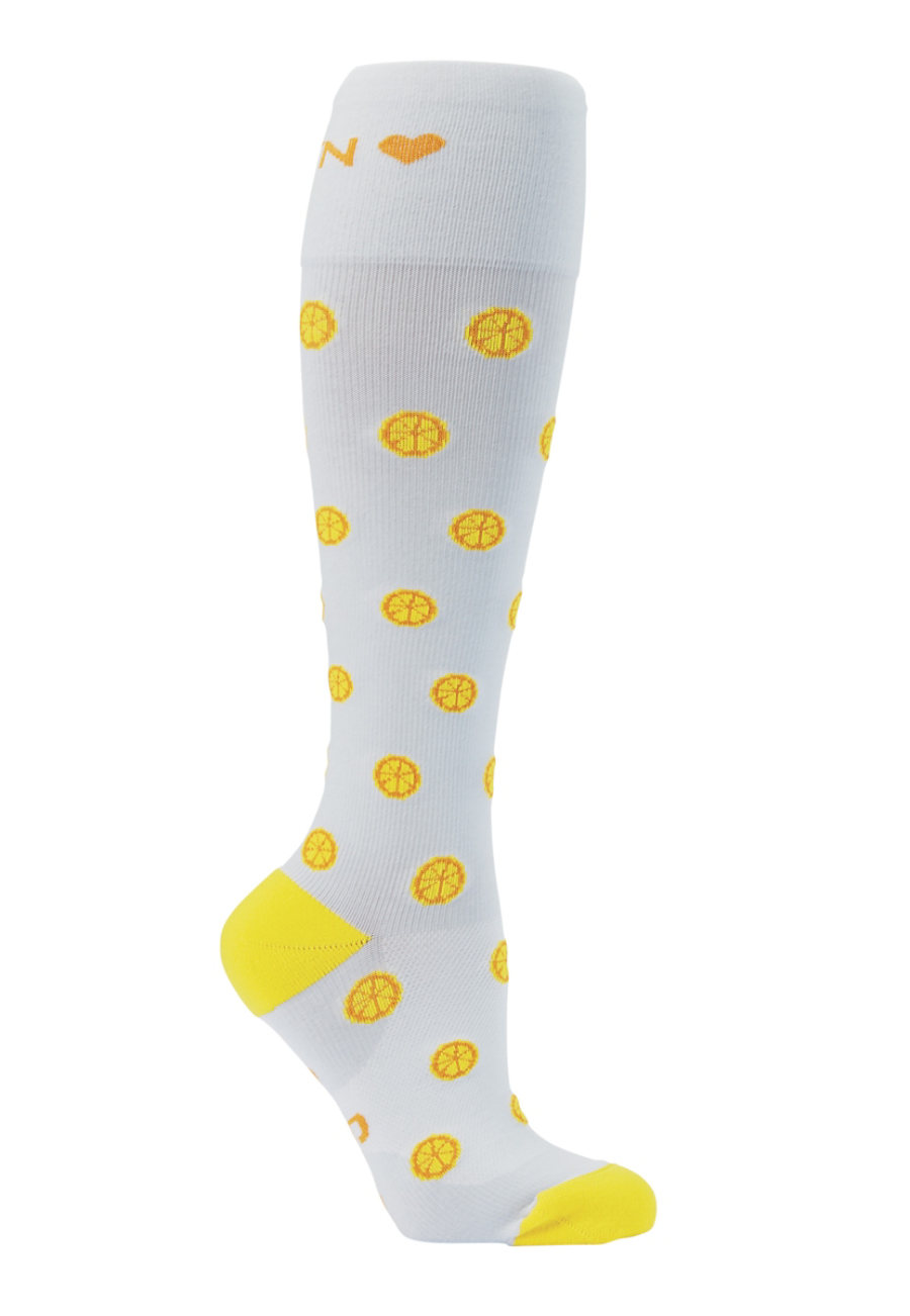 About The Nurse Citrus Medical Compression Socks - Citrus print