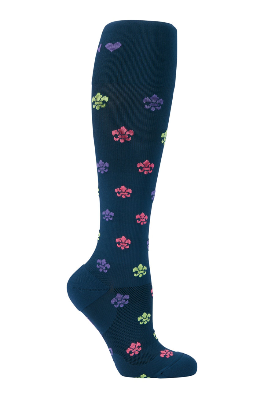 Image of About The Nurse Fleur De Lis Compression Socks - Fleur De Lis print - 2X