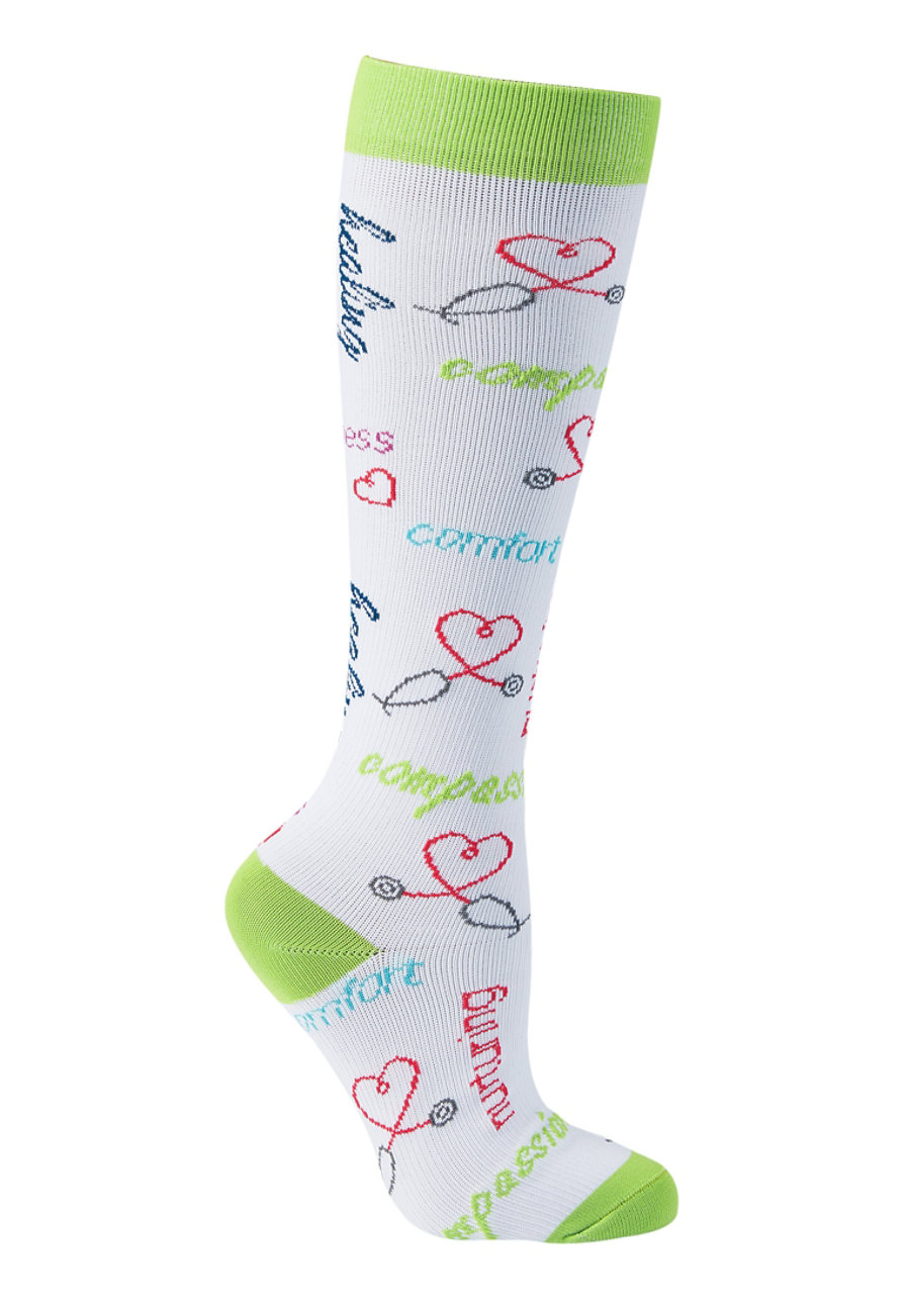 Beyond Scrubs The Caregiver Fashion Compression Socks - The Caregiver Is
