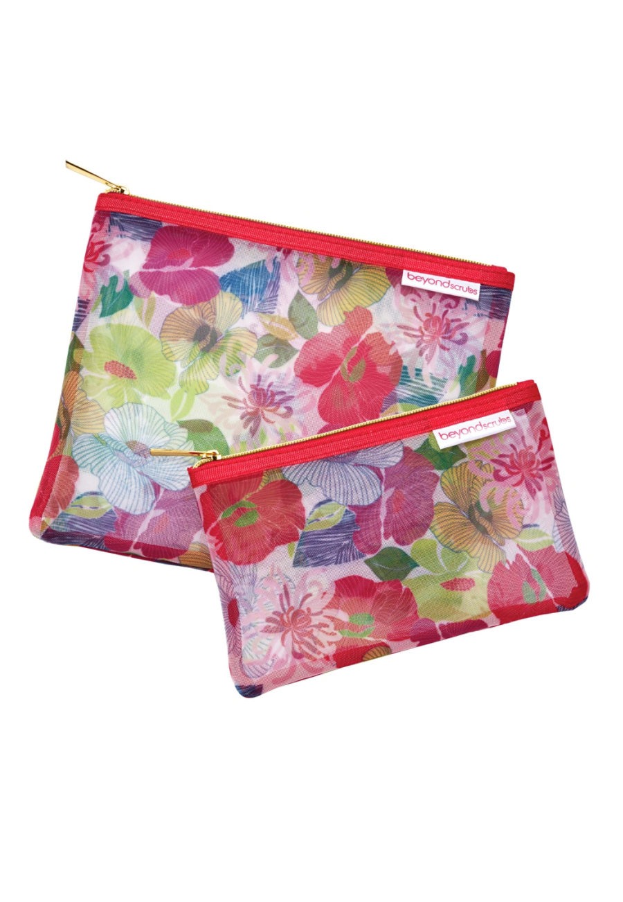 Beyond Scrubs 2 pc. Everything Bags - Rouge Floral - OS 99596