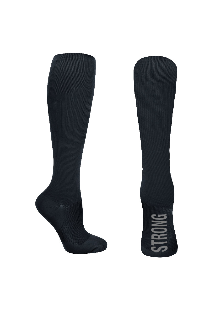 Beyond Scrubs Socks For The Soul 12-14mmHG Men's Compression Socks - Strong Black