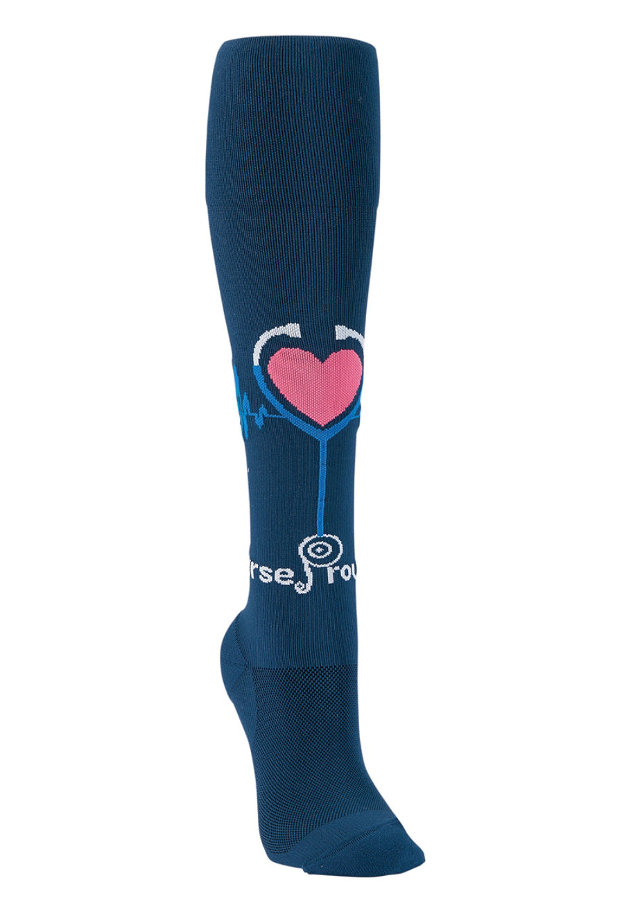 Image of About the Nurse Proud 2B A Nurse Compression Socks - Proud To Be A Nurse Navy - 2X