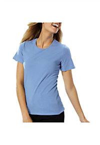 Blue Generation Ladies Short Sleeve Jewel Neck Tees