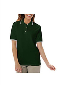 Blue Generation Ladies Polo With Tipped Collar