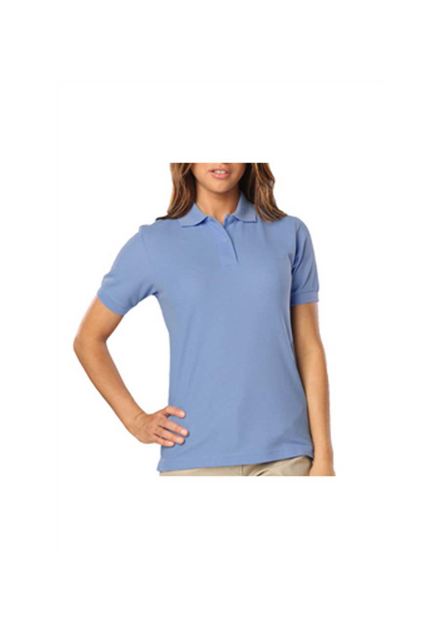 Blue Generation Ladies Wicking Polo - Light Blue - S