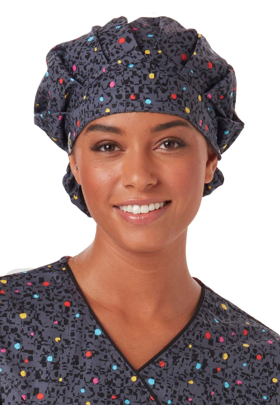 Code Happy Print Scrub Hats With Certainty - So Speck-tacular