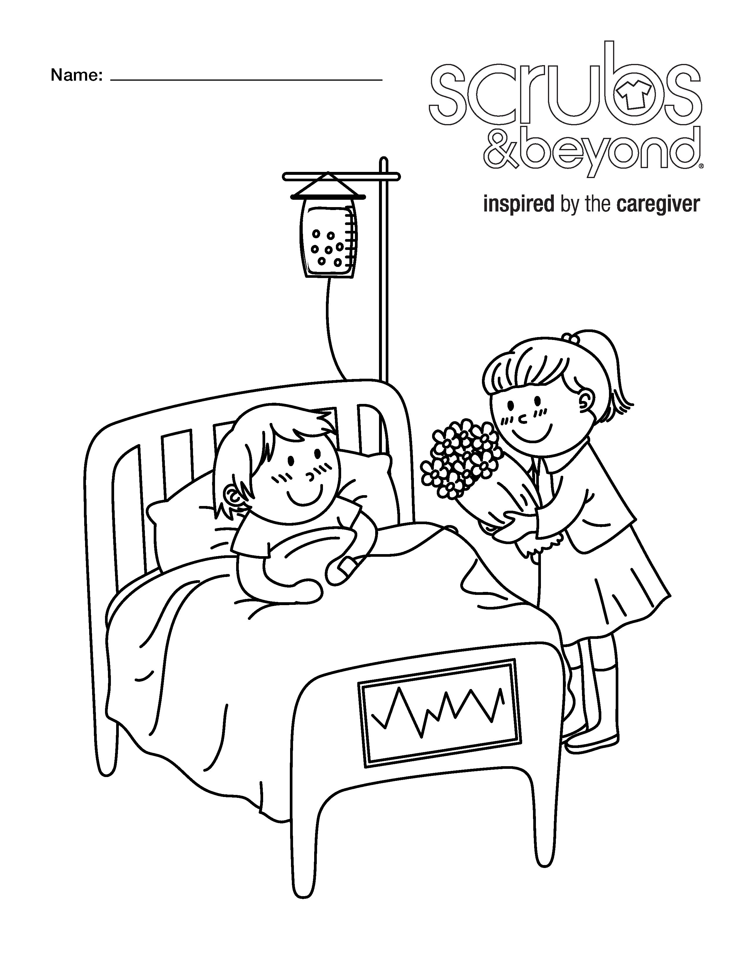 coloring pages scrubs and beyond