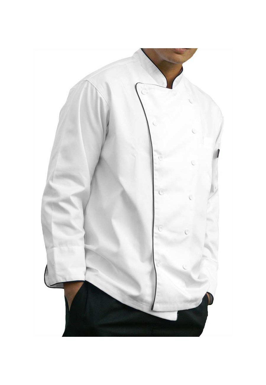 Dickies Chef Bruno Executive Chef Coat - White - 2X plus size,  plus size fashion plus size appare
