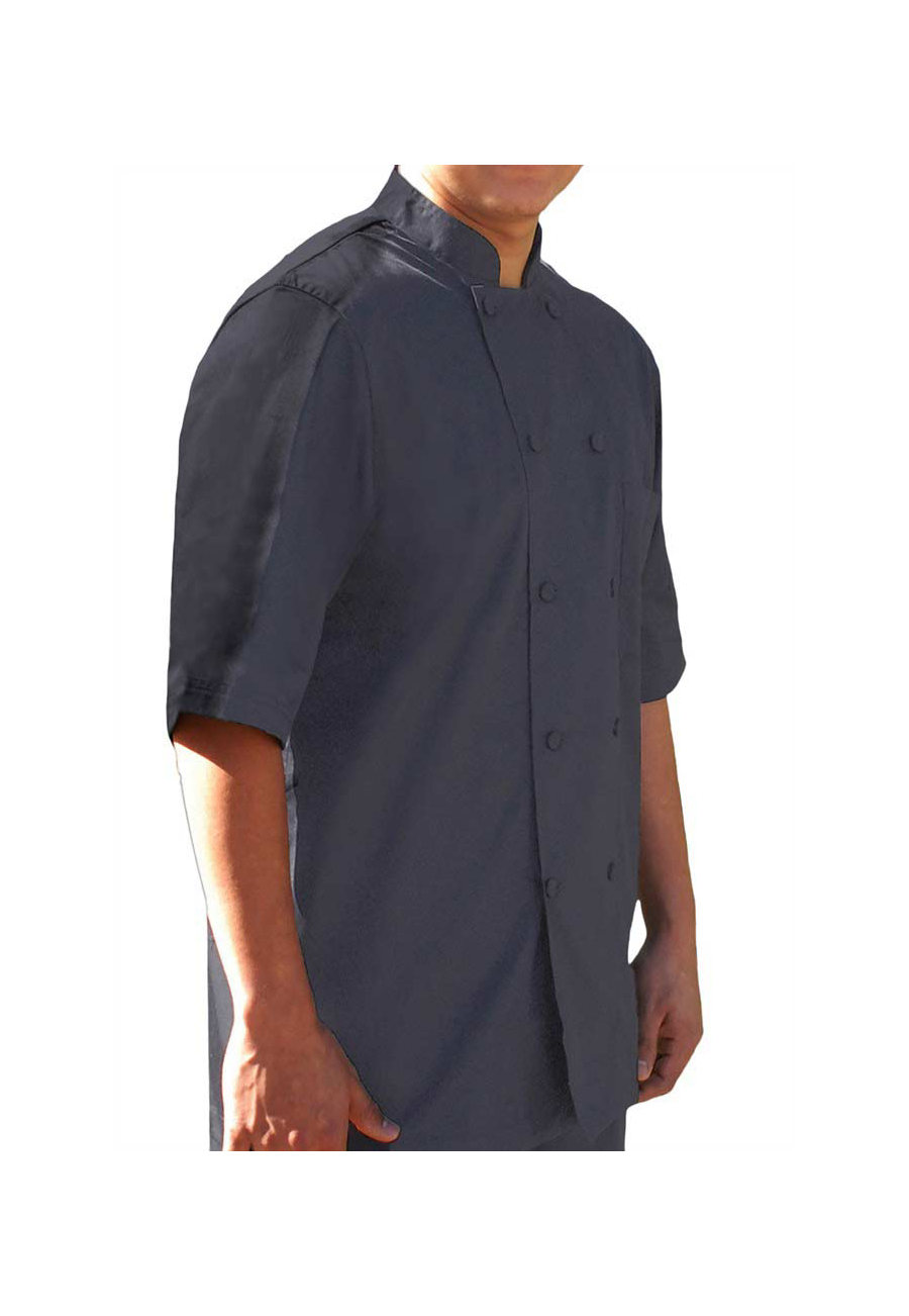 Dickies Chef Cool Breeze Chef Coat - Pewter - 4X plus size,  plus size fashion plus size appare