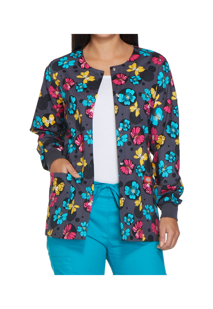 Dickies EDS Signature Dots So Fly Print Scrub Jackets - Dots So Fly