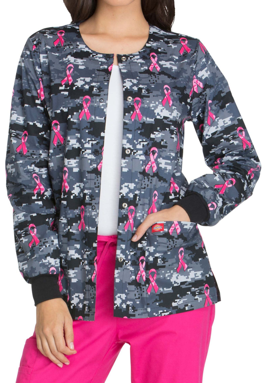 Dickies EDS Fight For The Cure Print Scrub Jackets - Fight For The Cure
