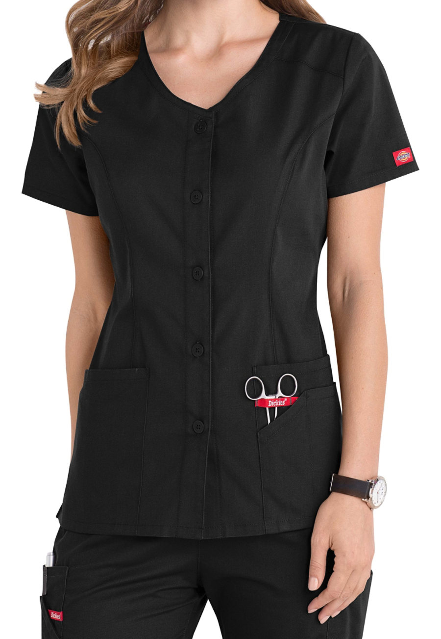 Dickies EDS Signature Snap Front Scrub Tops