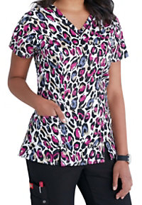 Dickies Xtreme Stretch Call Of The Wild V-neck Scrub Tops