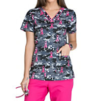 Dickies EDS Fight For The Cure Print Tops