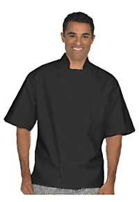 Fame Black Short Sleeve 10 Knot Chef Coat