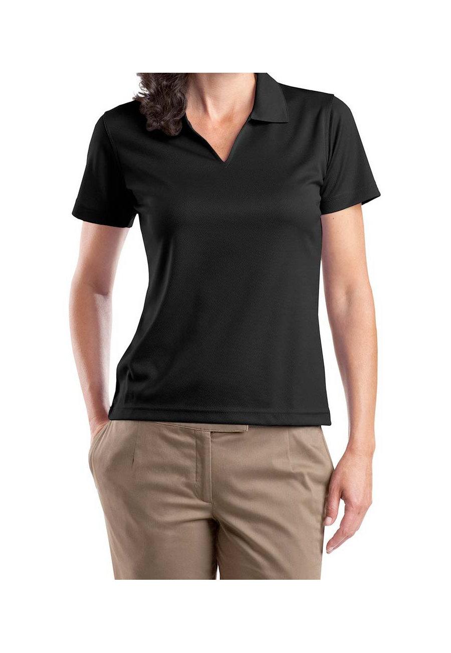 Sport-Tek Ladies V-neck Dri-mesh Polo Shirt