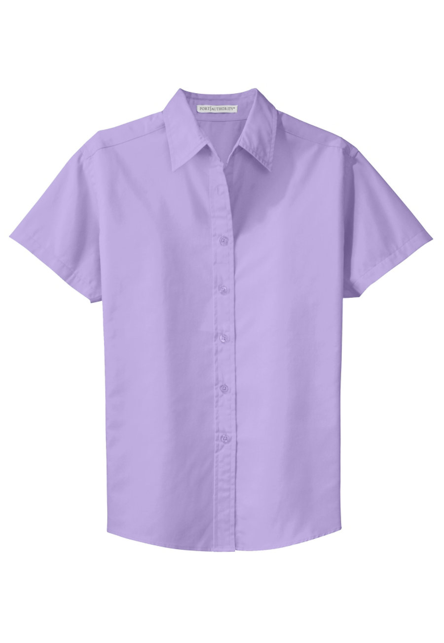 Port Authority Women's Short Sleeve Easy Care Shirt - Bright Lavender - 2X plus size,  plus size fashion plus size appare