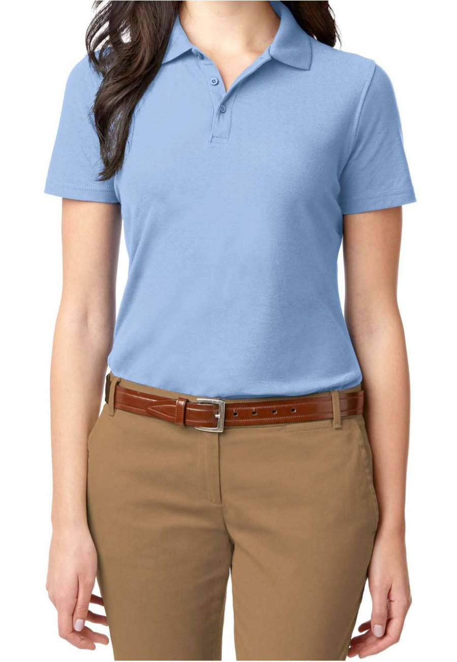 Port Authority Womens Stain Resistant Polo Tees - Light Blue - 4X