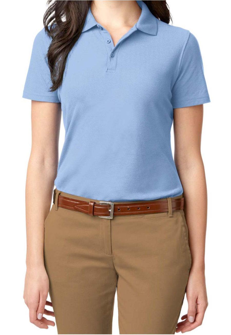 Port Authority Women's Stain Resistant Polo Tees - Light Blue - 4X plus size,  plus size fashion plus size appare