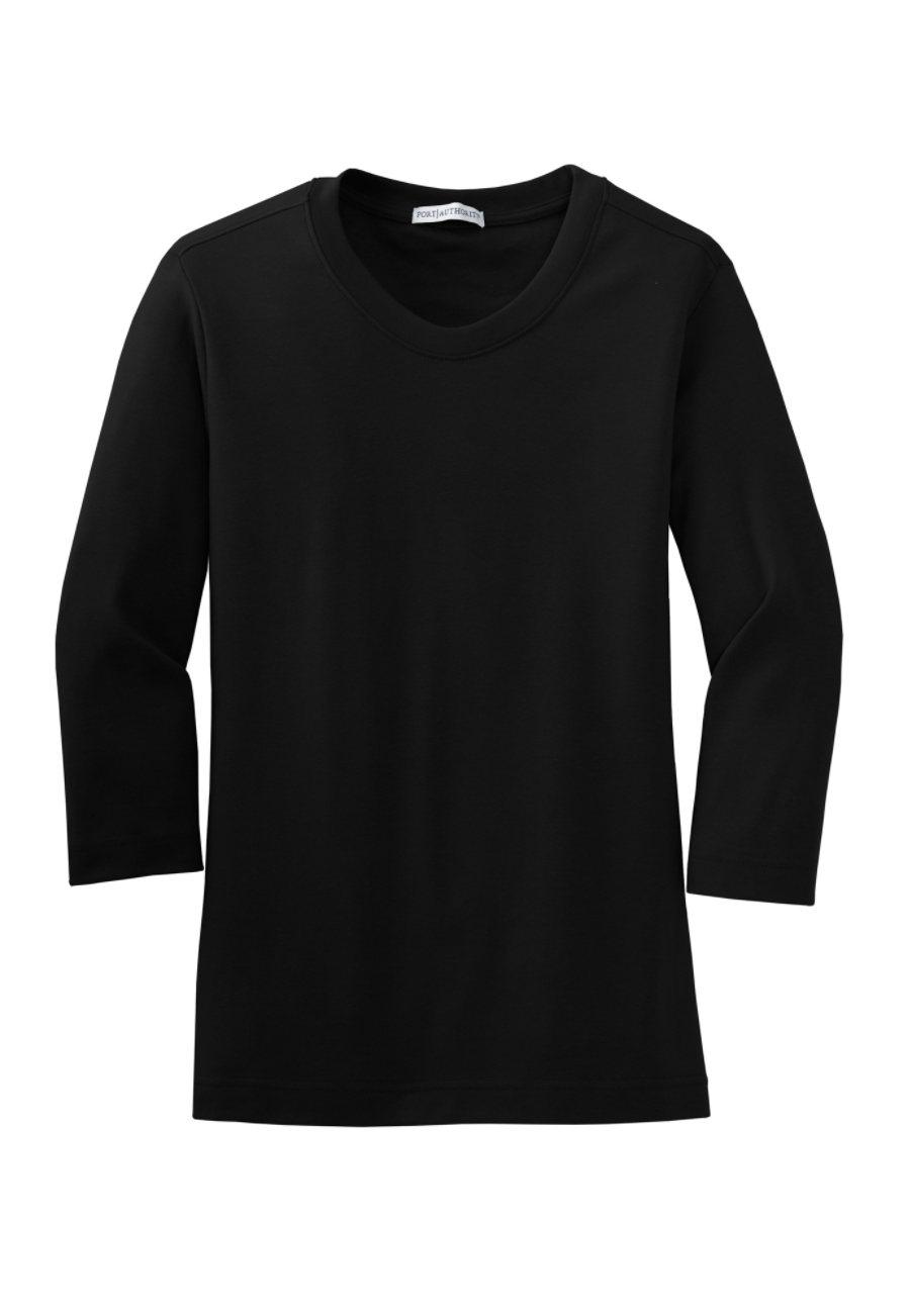 Port Authority Women's Modern Stretch Tees - Black - L L517