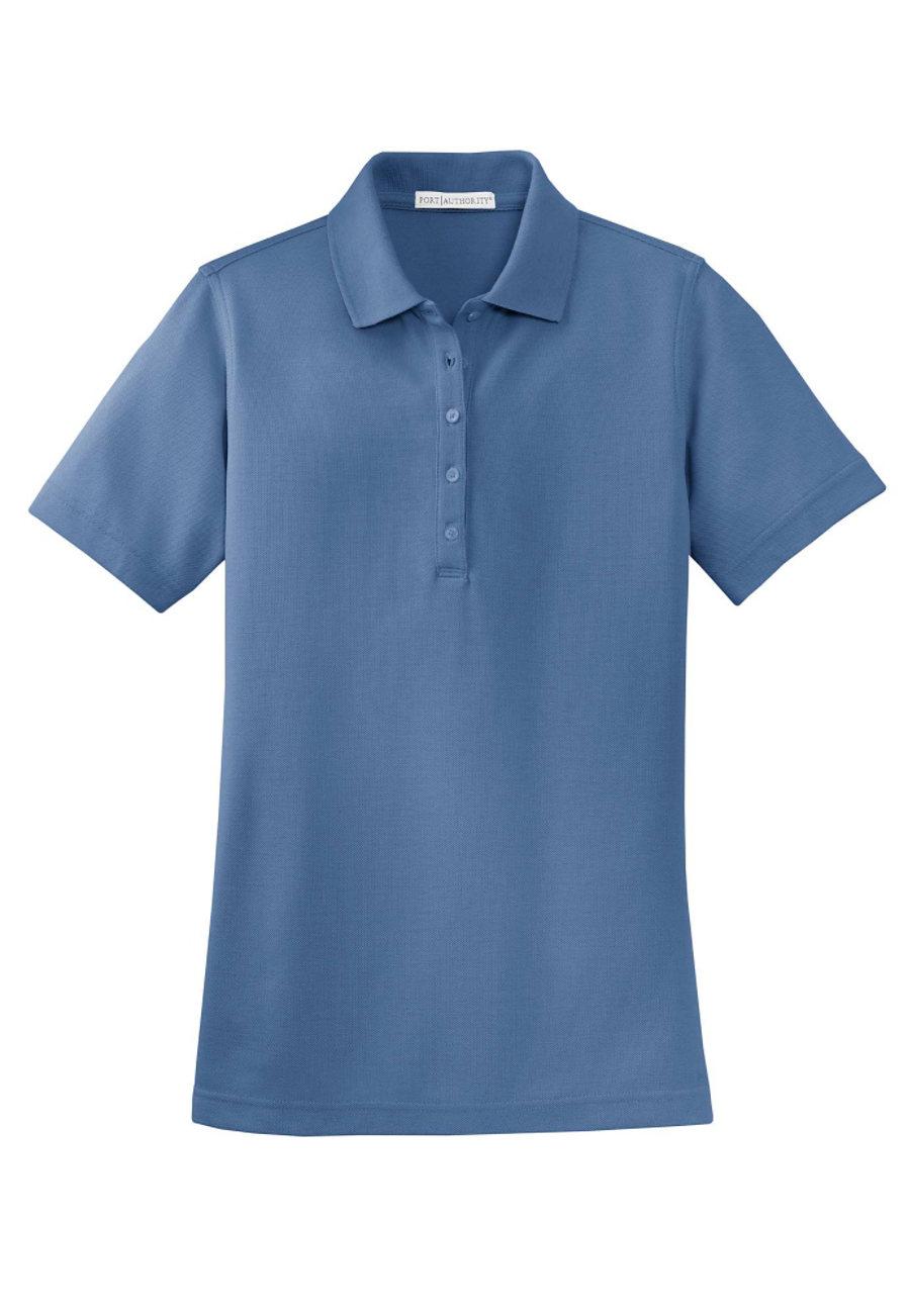 Port Authority Womens Ez Cotton Pique Polo Moonlight Blue 2x