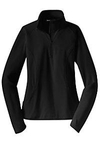 Sport-Tek Ladies Stretch 1/2 Zip Pullover Tops