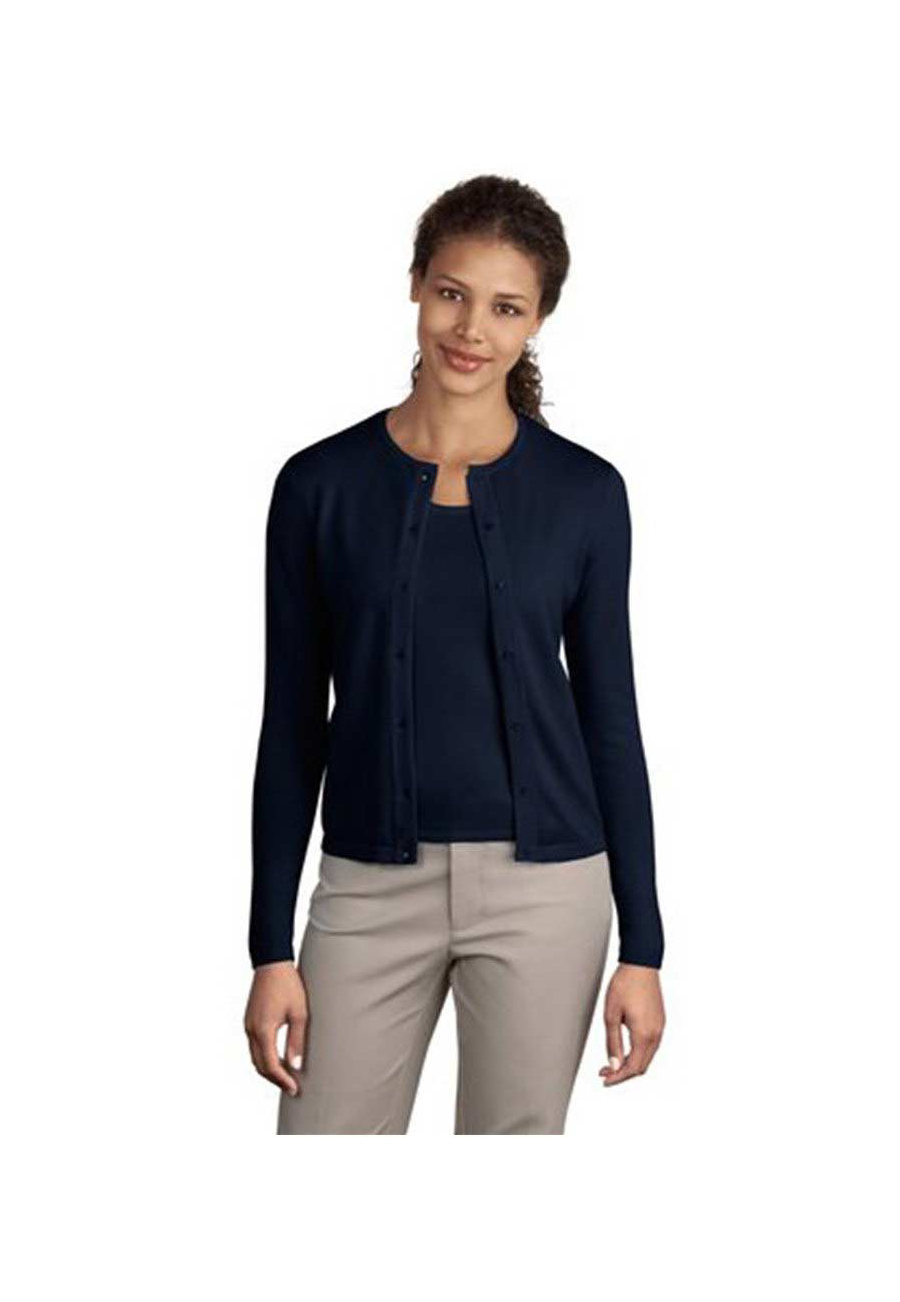 Sport-Tek Ladies Fine Gauge Crewneck Sweaters - Navy - L plus size,  plus size fashion plus size appare