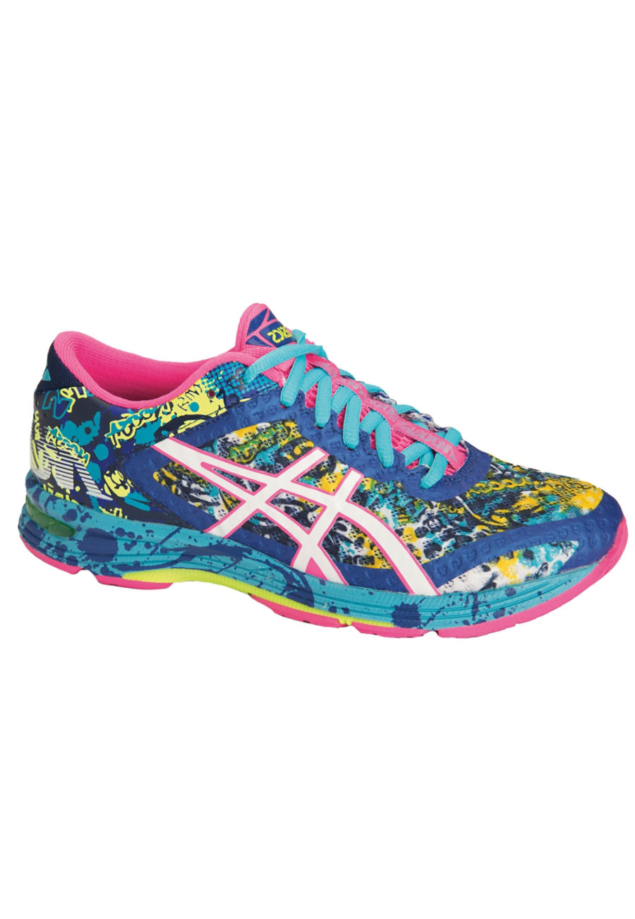 Image of Asics Noosa Mesh Lace Up Shoes - Asics Blue/White/Hot Pink - 7