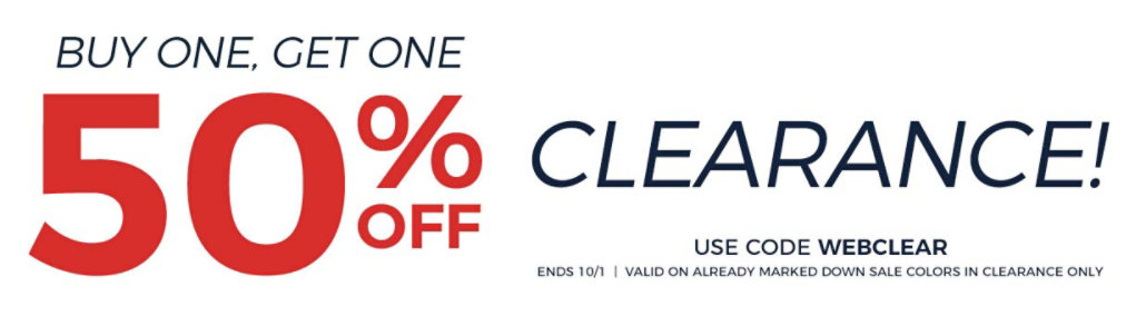 Bogo50 Clearance Sale