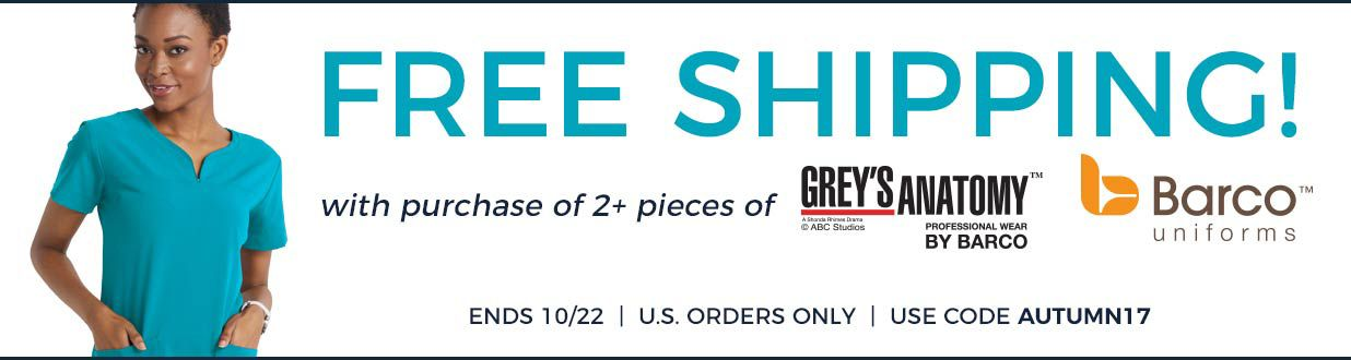 Free shipping grey's anatomy and barco