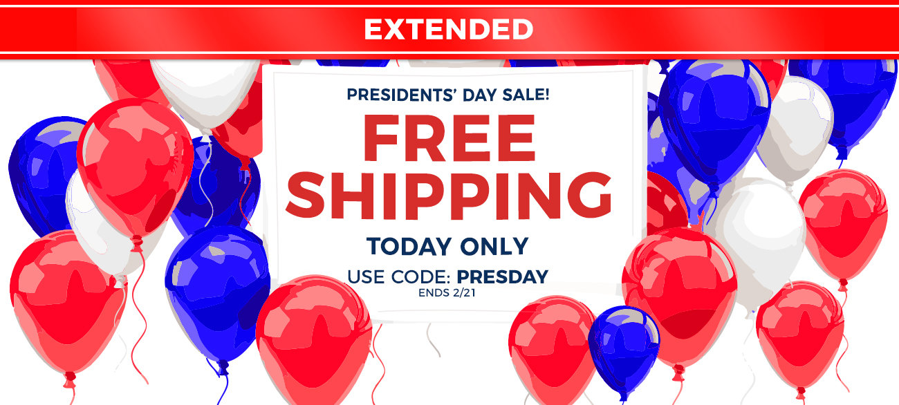 FREE SHIPPING w/ code: PRESDAY