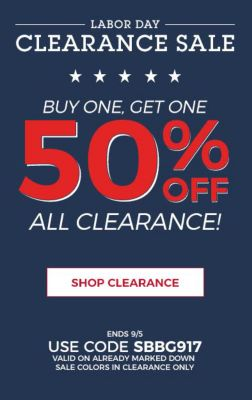 BOGO 50% Clearance ...